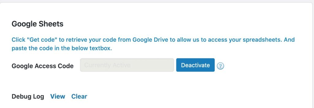 「Get Code」の画面
